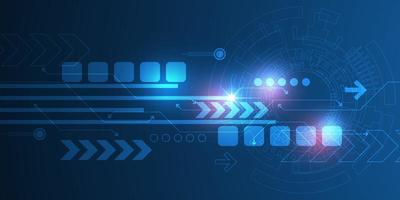 Technology background with arrows vector