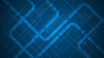Diseño de circuito electrónico diagonal sobre un fondo azul oscuro vector