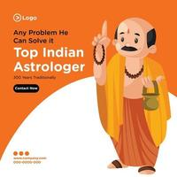 Banner design of top Indian astrologer template vector