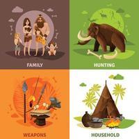 Stone Age 2x2 Design Concept Vector Illustration