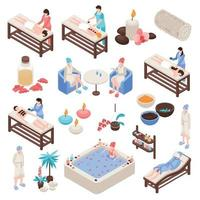 Spa And Beauty Isometric Set Vector Illustration