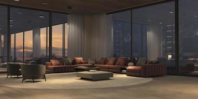 Modern open living room photo