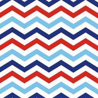 chevron geométrico de patrones sin fisuras náutico rojo y azul zig zag fondo de tela con textura ilustración marina textura geométrica para baby shower scrapbooking vector