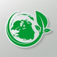 Green earth Concept with Leaves,ecology nature.Vector illustration. vector