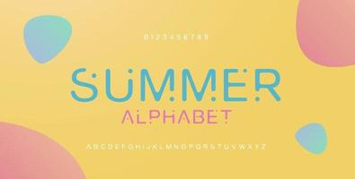Minimal font creative modern alphabet. Typography with dot regular and number. Minimalist style fonts set. vector