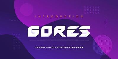 fuentes del alfabeto moderno abstracto. tipografía electrónica digital juego música futuro concepto de diseño de fuente creativa. vector