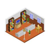 Isometric Lounge Room vector