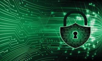 Padlock on digital background, cyber security vector