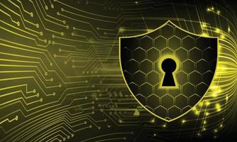 Closed Padlock on digital background, cyber security vector