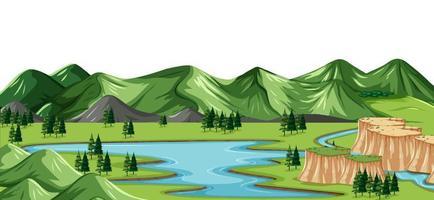 A green nature landscape background vector