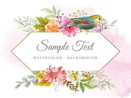 beautiful background with nature collection theme vector
