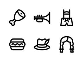 Simple Set of Oktoberfest Related Vector Line Icons