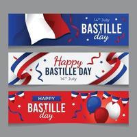 14th July Basttile Day Banner vector