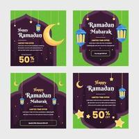 Ramadan Sale Social Media Template vector