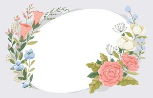 Beautiful Flower Frame Background vector