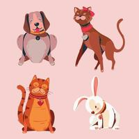Set of Cute Pet Collection vector