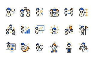 Set of Business People Icon vector