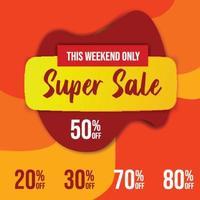 promoción de cartel de banner de super gran mega venta vector