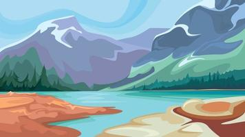 Canadian nature scenery vector