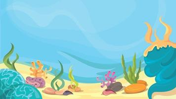 Beautiful underwater world vector