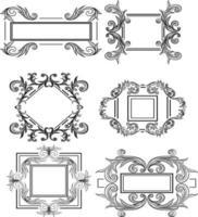 set of vintage design materials vector