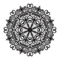 Vector Mandala ornament black and white