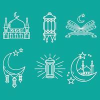 Collection set of a icon ramdahan kareem vector