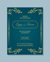 elegant wedding invitation with stylish ornaments vector