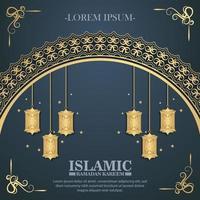 luxury ramadan kareem banner vector