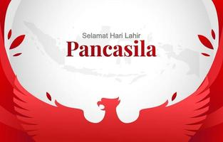 Pancasila Day Background vector