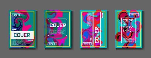 Minimum vector coverage. A set of modern abstract covers. Creative popart triangle element vector. Geometric booklet cover template design. abstract cover.