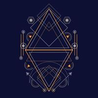 patrón de geometría sagrada para el fondo, poster.eps 10 vector