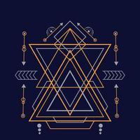 Abstract sacred geometry hand drawn vector illustration ornament