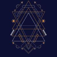 Abstract sacred geometry ornament for background. Eps10 vector