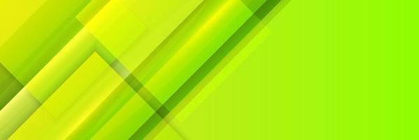 Fondo de banner geométrico verde abstracto vector