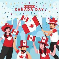 feliz celebración del día de canadá vector