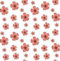 Floral seamless pattern in hand drawn style. vector illustration for romantic design