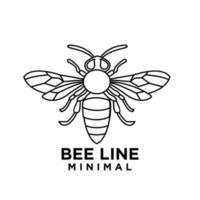Premium big hornet abeja línea vintage vector icono logo diseño de plantilla
