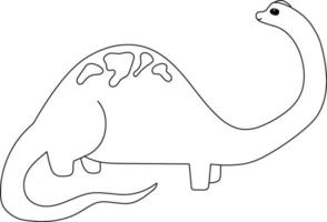 Brachiosaurus Kids Coloring Page Great for Beginner Coloring Book vector