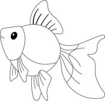 Goldfish Kids Coloring Page Great for Beginner Coloring Book vector
