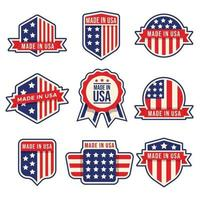 Made In USA Badges Set vector