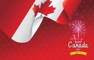 Happy Canada Day Background vector