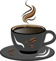 Black Coffee Cup Vector Illustration