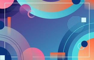 Abstract Colorful Circle Gradient Background vector