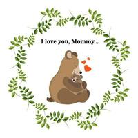 Cute vector greeting card for Mother's Day