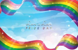 Pride Day Celebration Background Concept vector