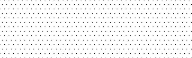 White panoramic pattern with black dots - Vector