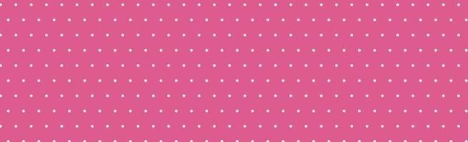 Pink panoramic pattern with white dots - Vector