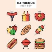 Barbeque Icon Set vector