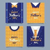 colección de tarjetas de felicitación del padre vector